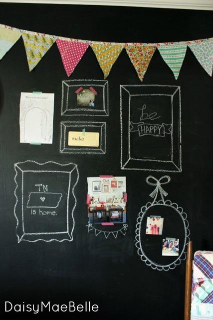 Fun Chalkboard Wall @ DaisyMaeBelle