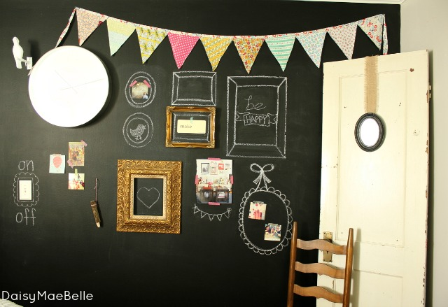 Painting a wall with chalkboard paint