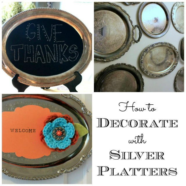 how to use silver platters