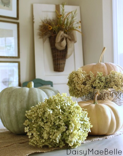 simple pumpkin display