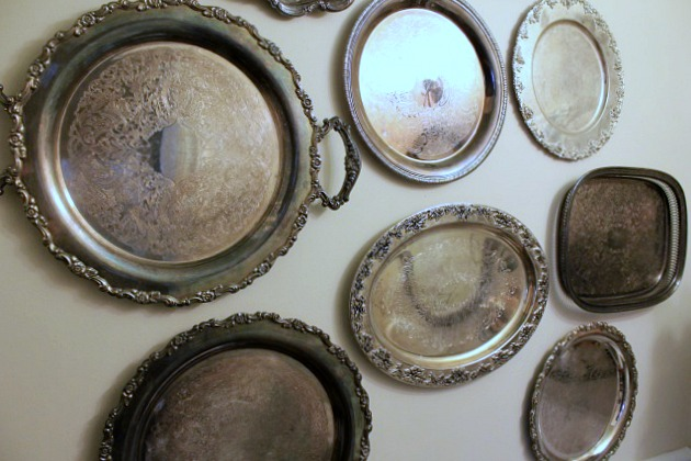 hanging silver platters