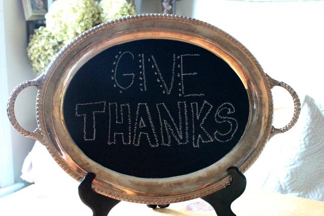silver platter chalkboard