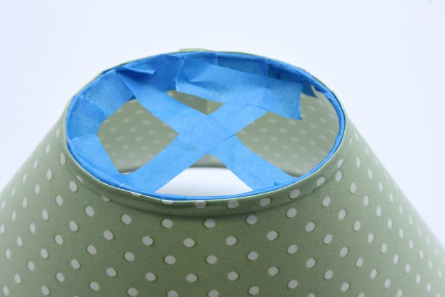 spray painted lampshade