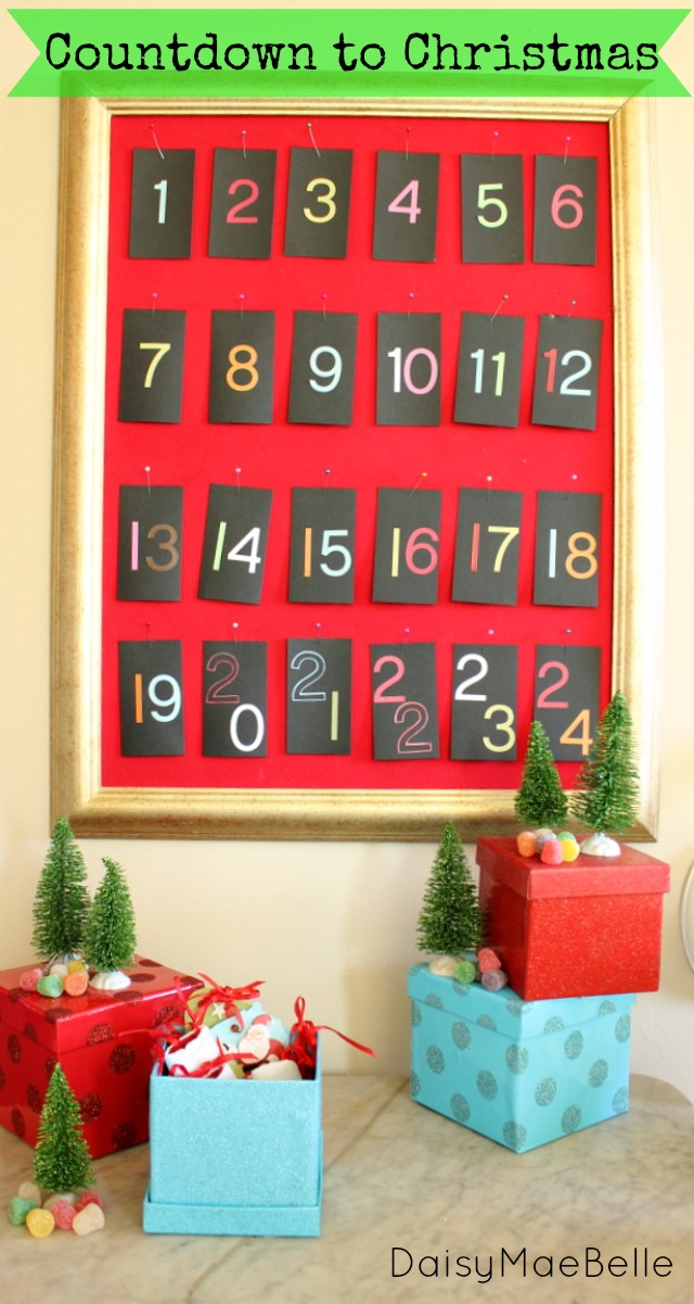 DIY Christmas Advent Calendar @ DaisyMaeBelle