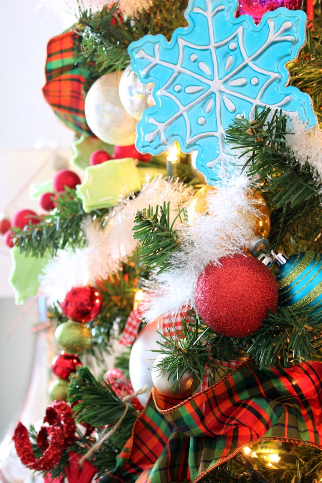 Decorating a Tree with Bright Colors