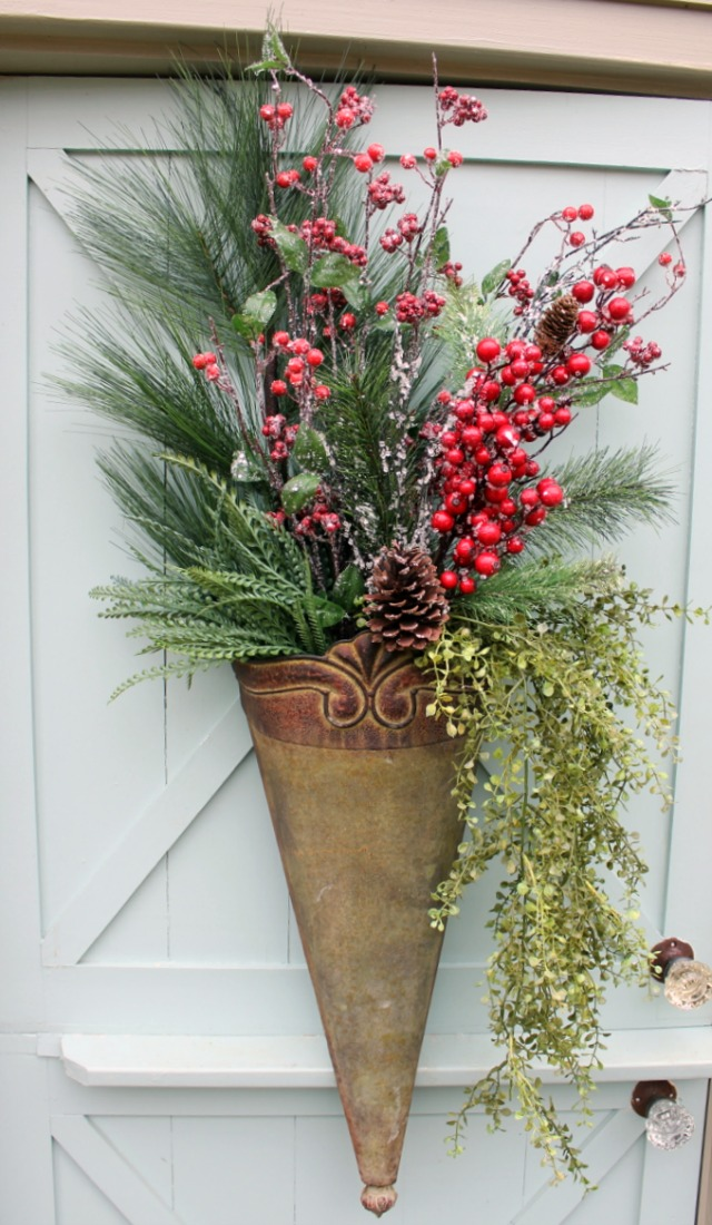 Christmas Front Door Arrangement