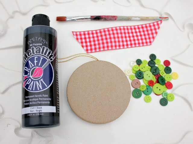 Supplies for Making Button Ornaments