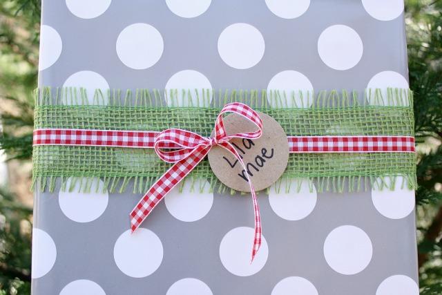 Burlap Ribbon Gift Wrap