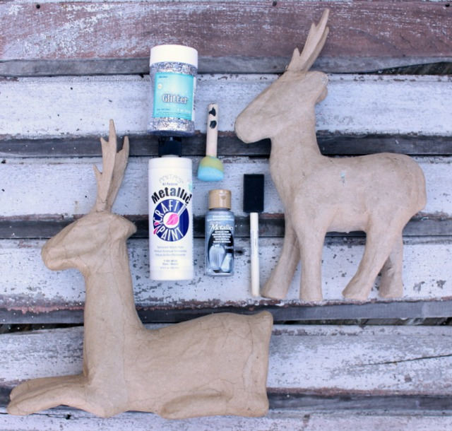 DIY Painted Paper Mache Deer @ DaisyMaeBelle