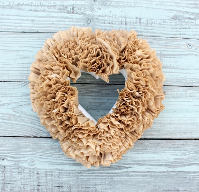 How to Make a Coffee Filter Wreath