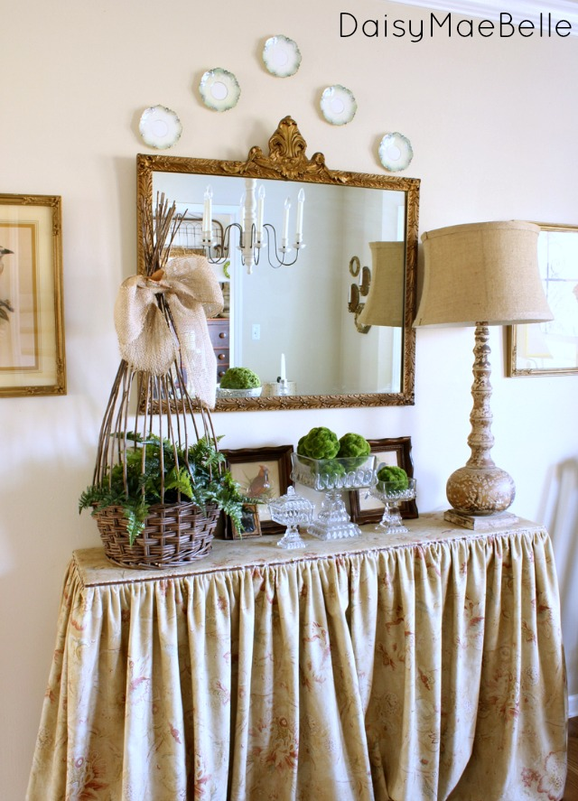 Skirted Buffet Table