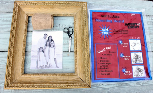 Supplies for Custom Framing a Picture Yourself