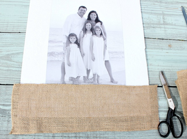 How To Make a Burlap Mat for a Picture