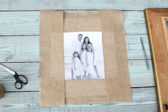 Framing a Picture with a Burlap Mat