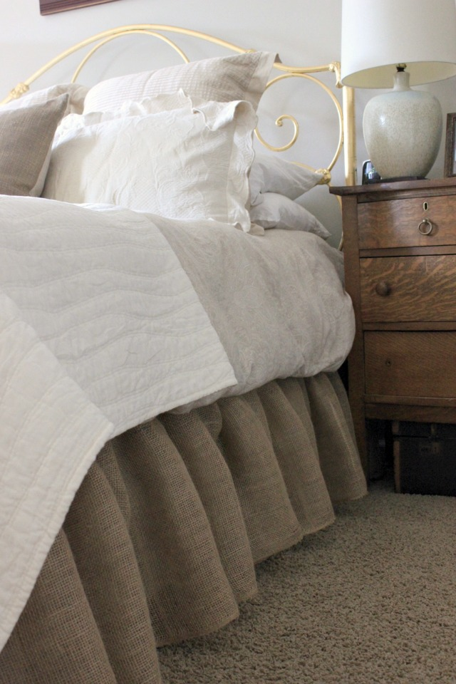 How to Make a Burlap Bed Skirt
