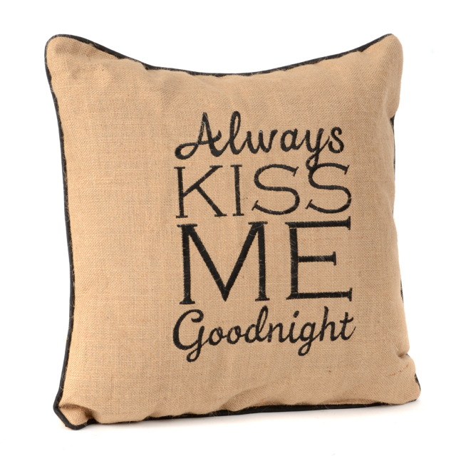 Always Kiss Me Goodnight Pillow from Kirkland's