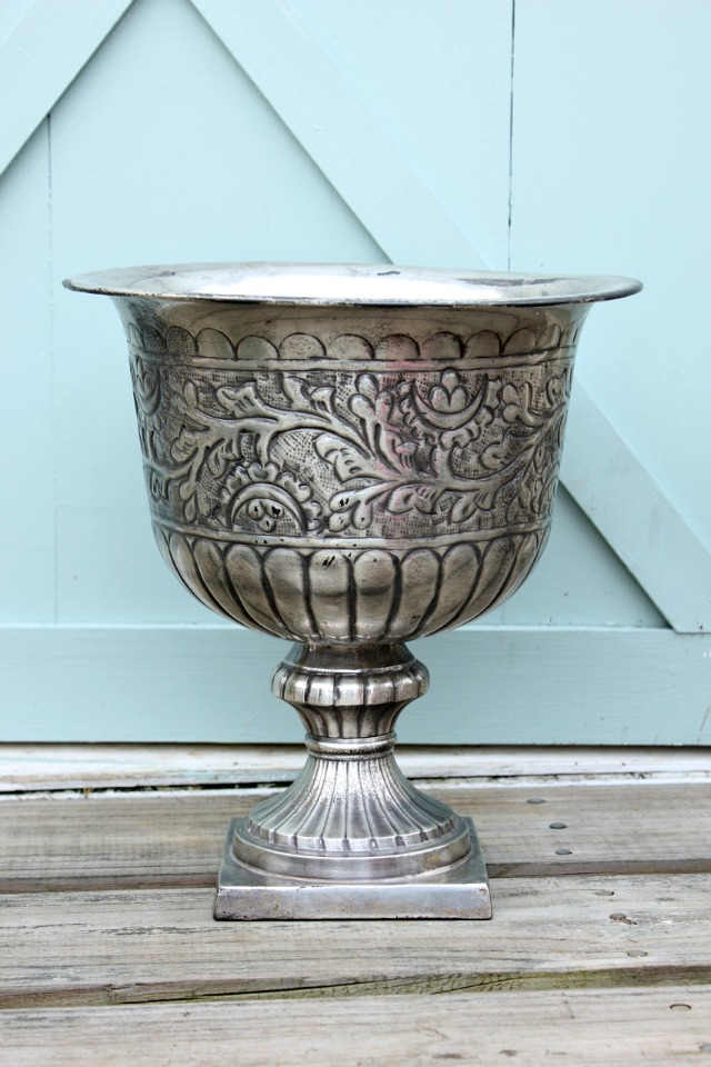 Decorating an Urn for Spring