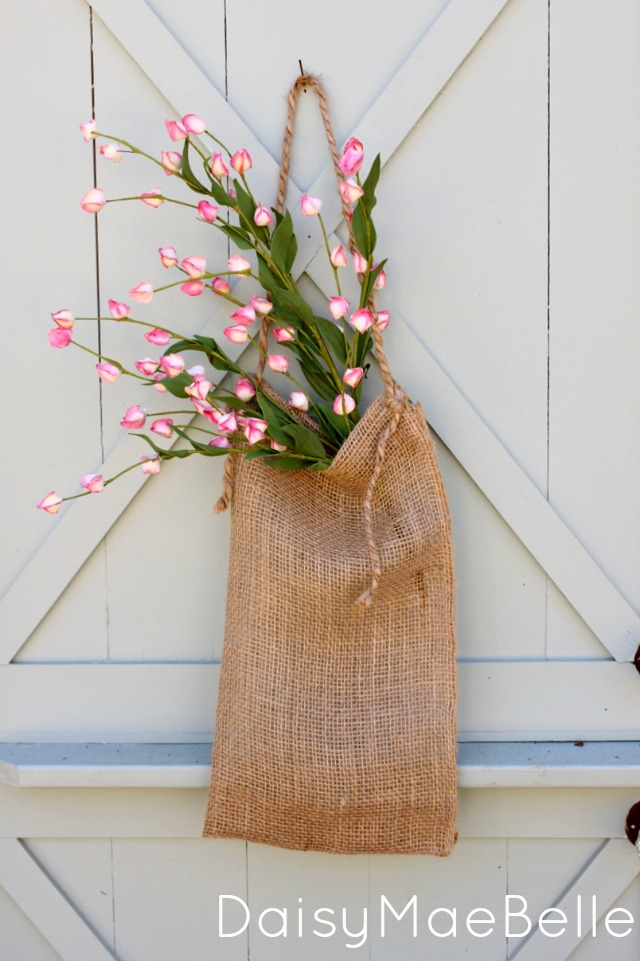 Simple Burlap Flower Bag