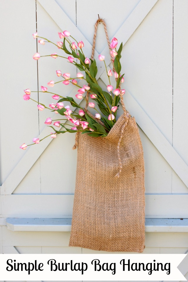 Simple Burlap Bag