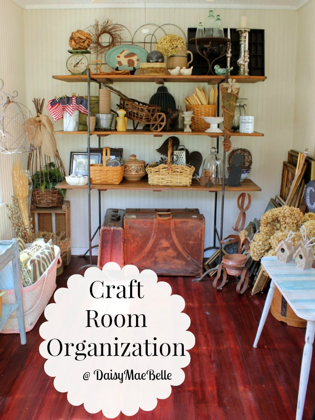 Craft Room Organization Ideas | DaisyMaeBelle | www.DaisyMaeBelle.com