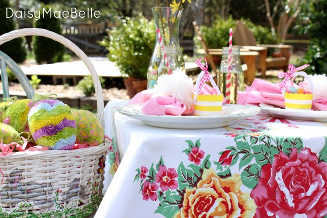 Easter table setting for children