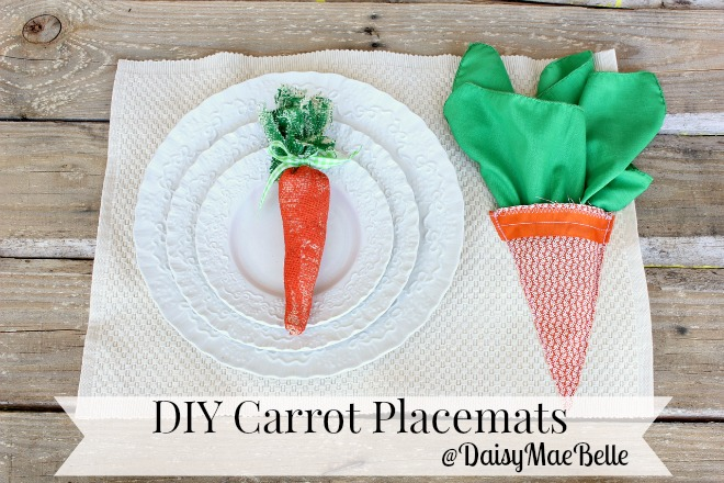 How to make carrot placemats