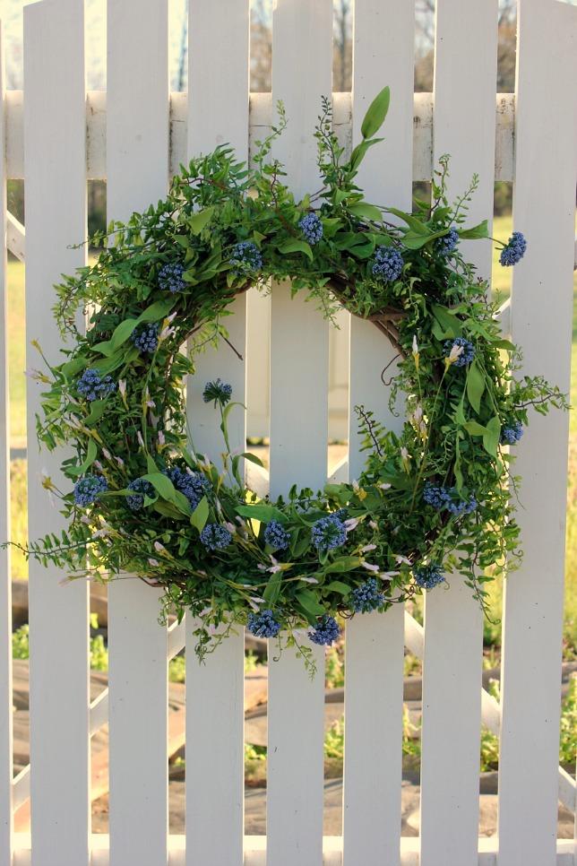 Making a Spring Wreath