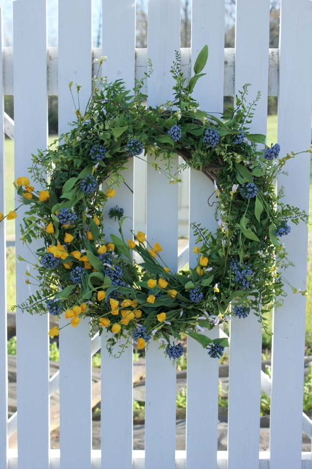 Floral Grapevine Wreath