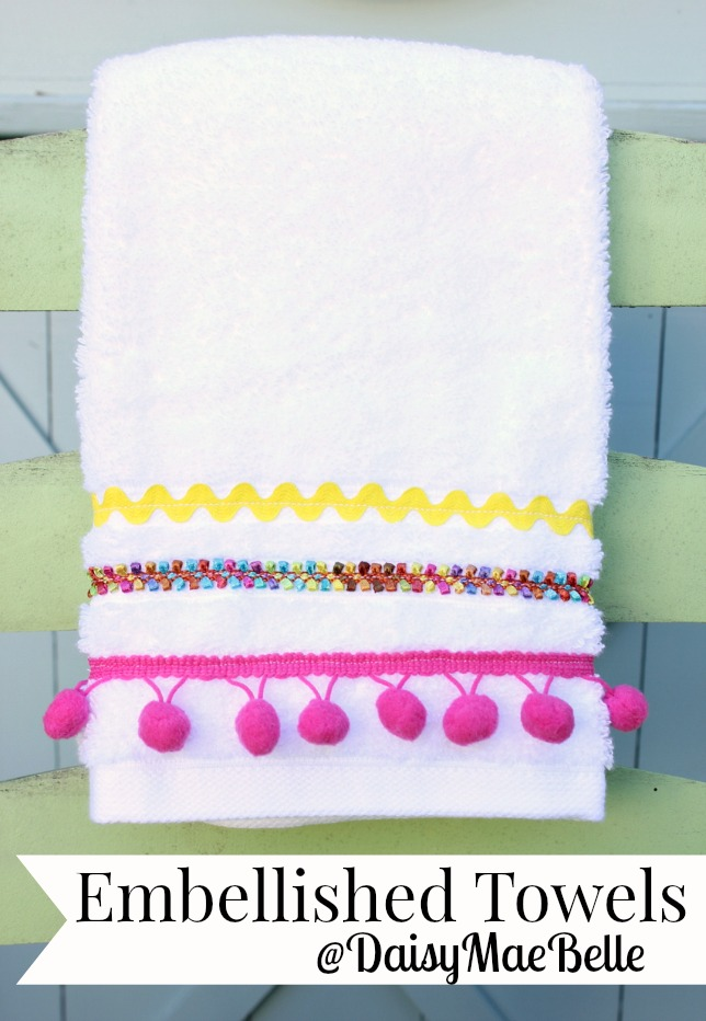Embellished Towels @ DaisyMaeBelle