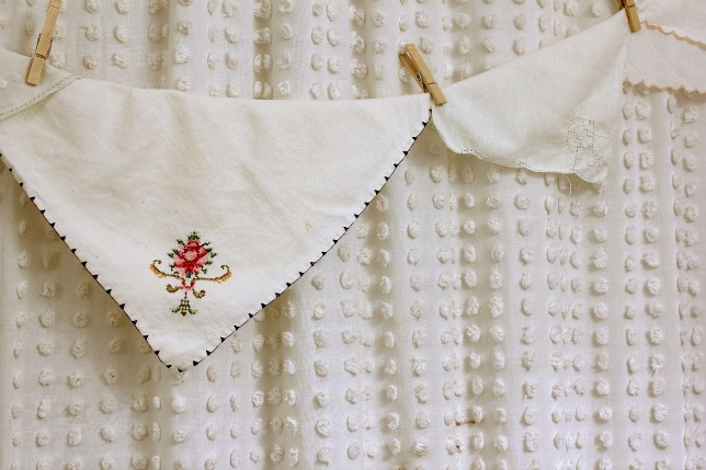 Vintage Linen Shower Curtain