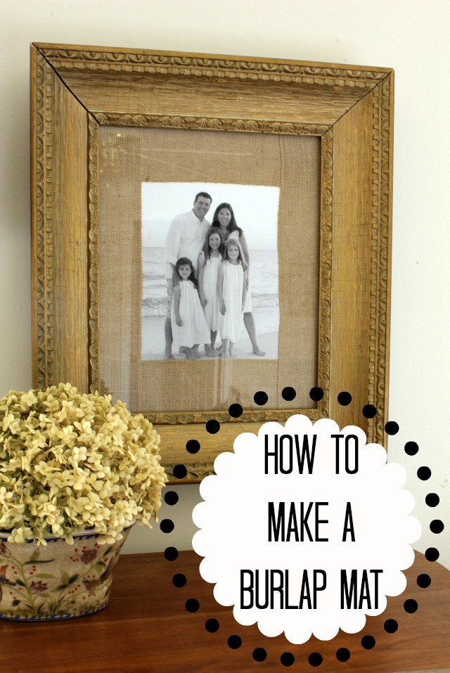 how to make a burlap mat