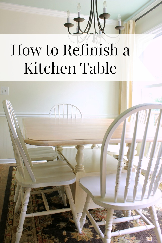 How To Refinish A Kitchen Table Daisymaebelle Daisymaebelle