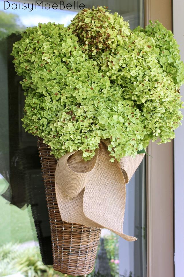 Dried Hydrangea Arrangement