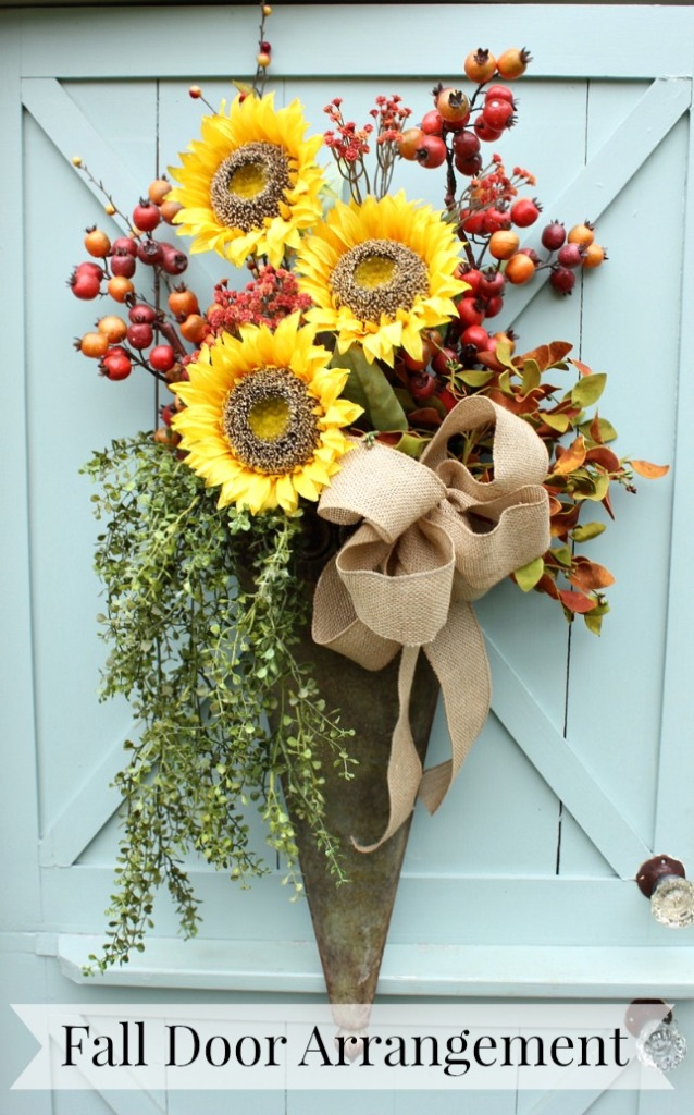 DIY Fall Door Arrangement