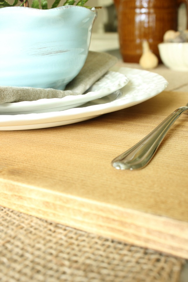 Tutorial for making wood placemats