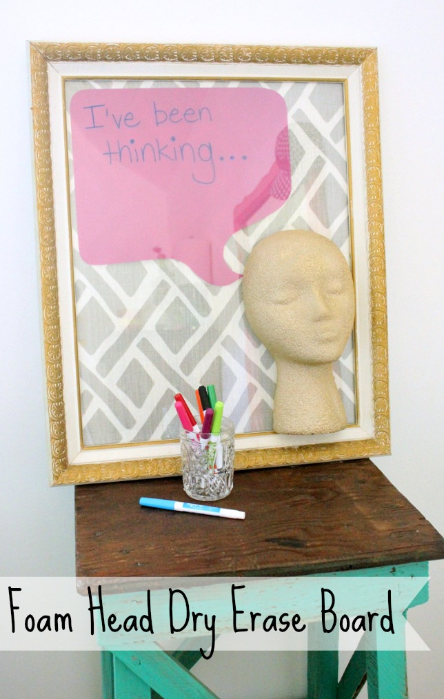styrofoam head crafts