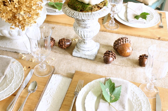 natural fall table decorations