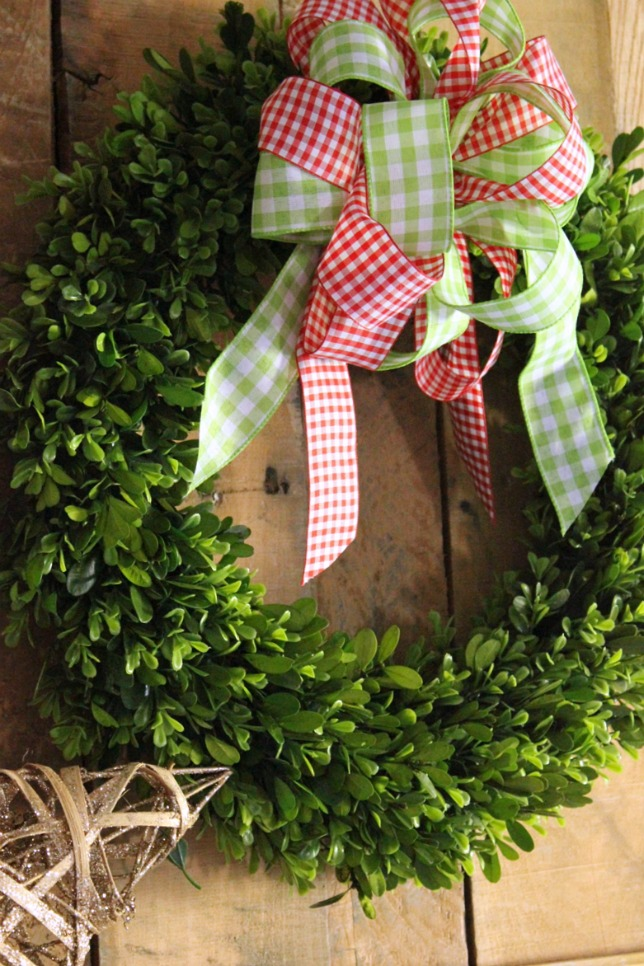 Decorating for Christmas with Boxwood