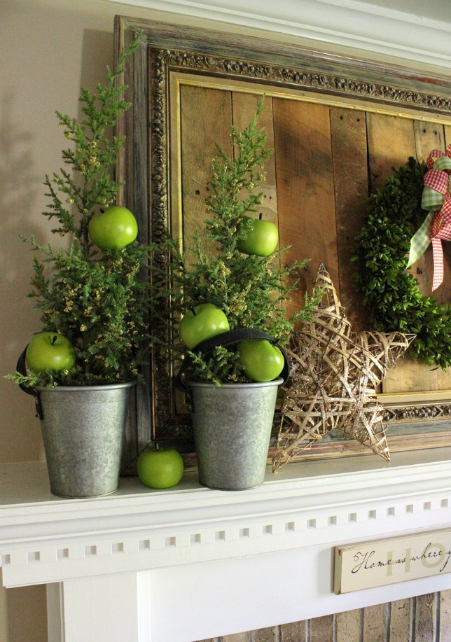 Decorating with Apples for Christmas