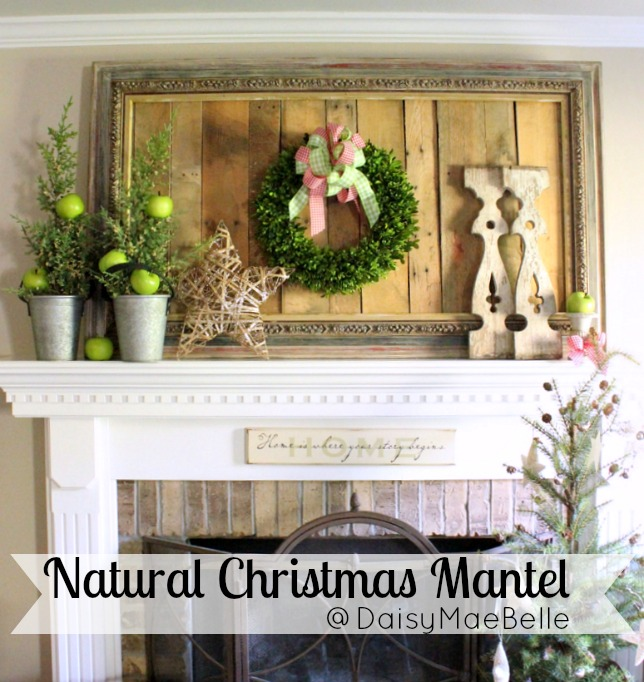 Natural Christmas Mantel