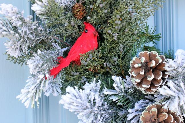 Red Bird Wreath