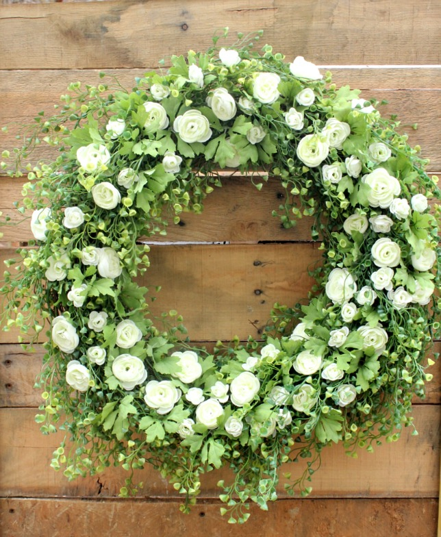 Moss and Rose Wreath