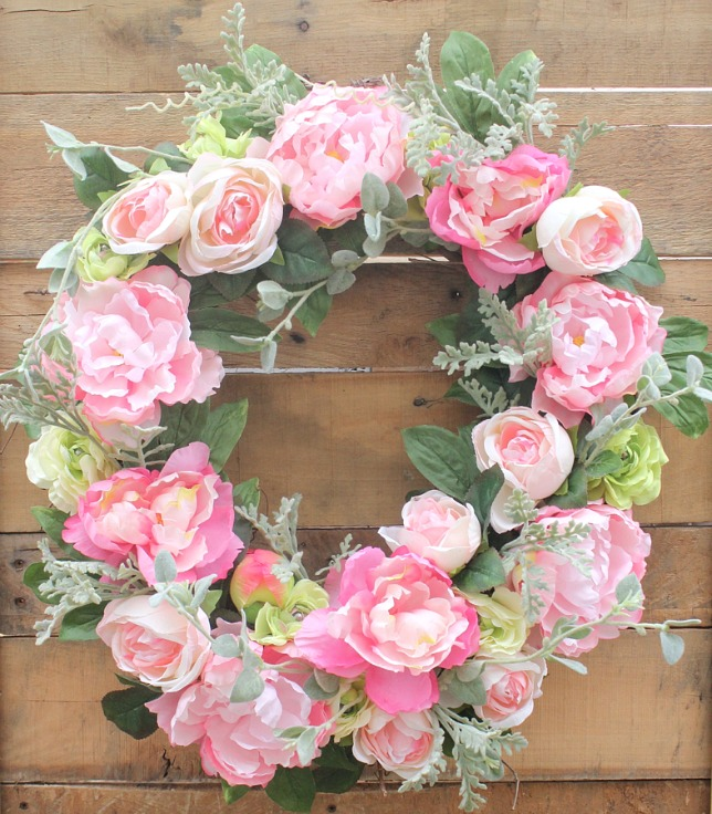 Pink Peonies and Rose Wreath