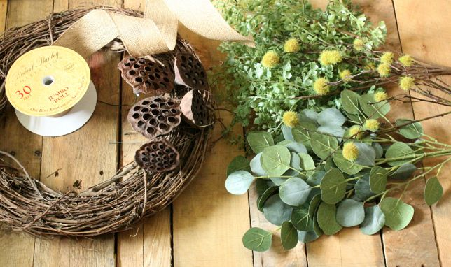 supplies for natural wreath