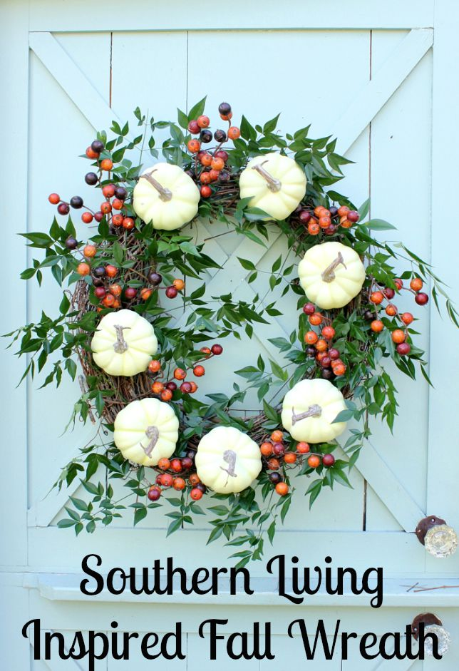 Southern Living Fall Wreath