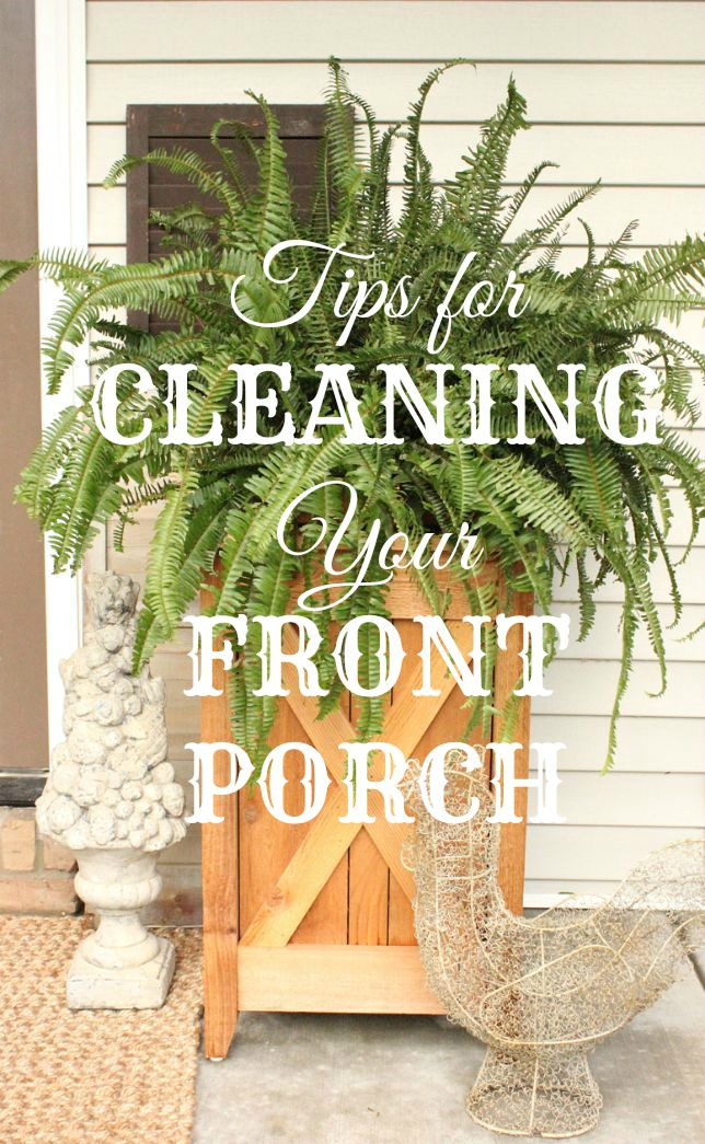 Tips for Cleaning your Front Porch