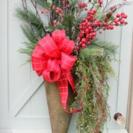 How to Make a Christmas Door Arrangement