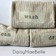 DIY Stamped Hand Towels