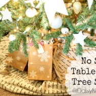 No Sew Tablecloth Tree Skirt
