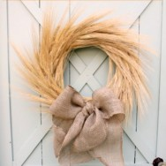 How to Make a Wreath Out of Wheat